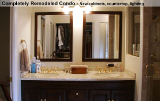 Bethesda MD condo bathroom remodeled