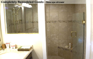 Bethesda MD new spa shower in condo