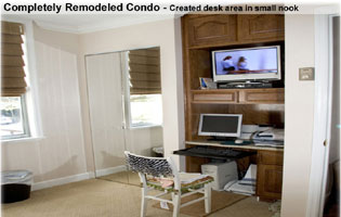 Condo Bethesda MD remodeled new desk nook
