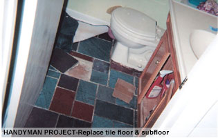 handyman bathroom repairs Montgomery Co MD