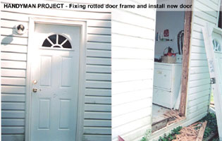 handyman repair rotted door frame install new door