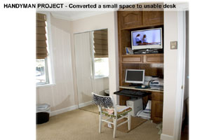 handy project make desk nook Montgomery Co MD